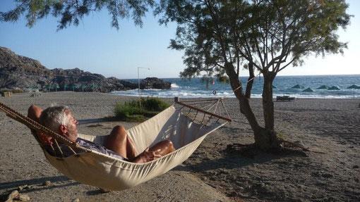 Ferienstimmung am Amoudi-Beach