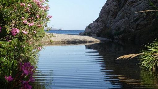 Souda-Beach - baden im Meer -
