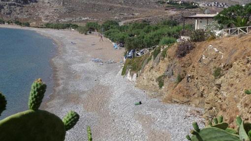 unser Strand in der Bucht von Kato Zakros