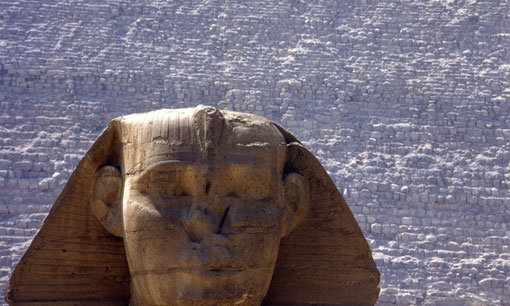 The Sphinx and the Pyramid of Khafre, Egypt.