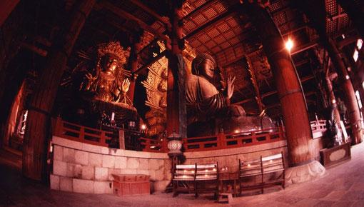 The Great Buddha, Todaiji, Nara, Japan.