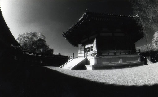 The Yumedono, Horyuji, Nara, Japan.