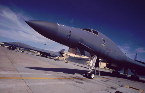 B-1Bs on the tarmac: Ellsworth AFB, South Dakota.