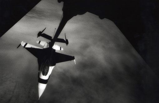 Thunderbird F-16 over the North Pacific.