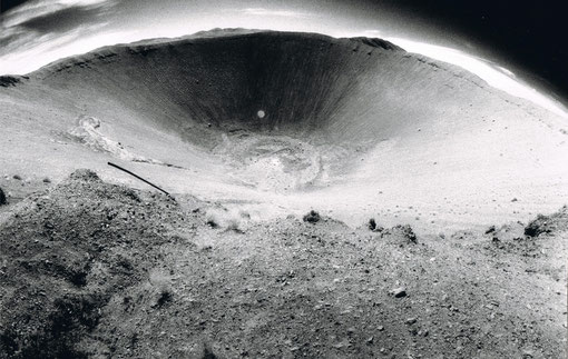 Crater from the 1964 nuclear explosion code-named 'Sedan' ; Nevada Nat'l Security Site ('N2S2'), Nevada, USA.