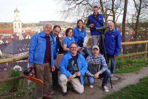 Das Team des NABU Biberach/Riss 2015! Von links hintere Reihe: D. Wöhrle, M. Schloßbauer, V. Schloßbauer, N. Jüngling(Sonntag), M. Rösler, B. Raunecker. Vorne: M. Lang, J. Bayer