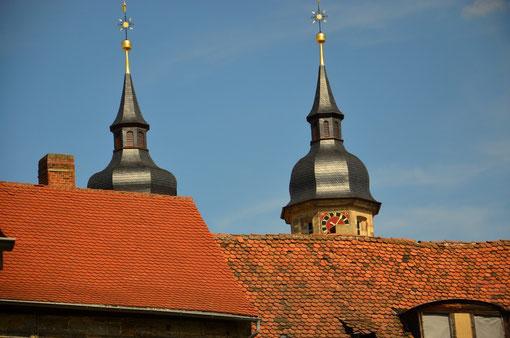 Über den Dächern von Bayreuth mit der Stadtkirche im Hintergrund