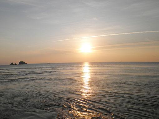 2日目の朝日 上げ潮がいってますねー。