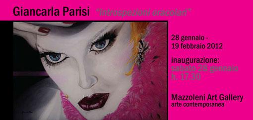 Vernissage INTROSPEZIONI ORACOLARI presso Mazzoleni Art Gallery  Bergamo