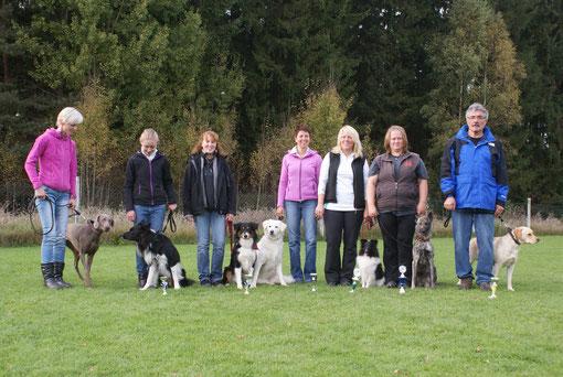 Petra, Carolin, Natascha, Karin, Susan, Silke und Werner nach der erfolgreich bestandenen BH!