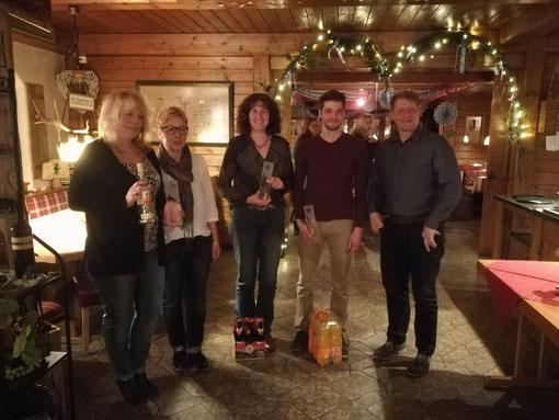 Susanne Kuhndorfer, Christine Kroner(Ausbildungswart)ich, Tobias Ehrentaler, Frank Koller(Vorstand)