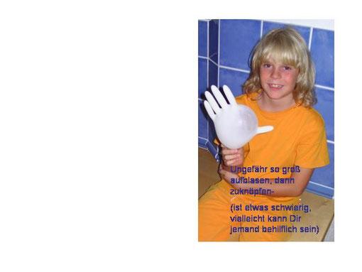 Handschuh zuknöpfen