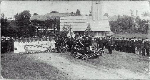 Einweihung der Feuerwehrspritze und des Spritzenhauses am 31. August 1925.