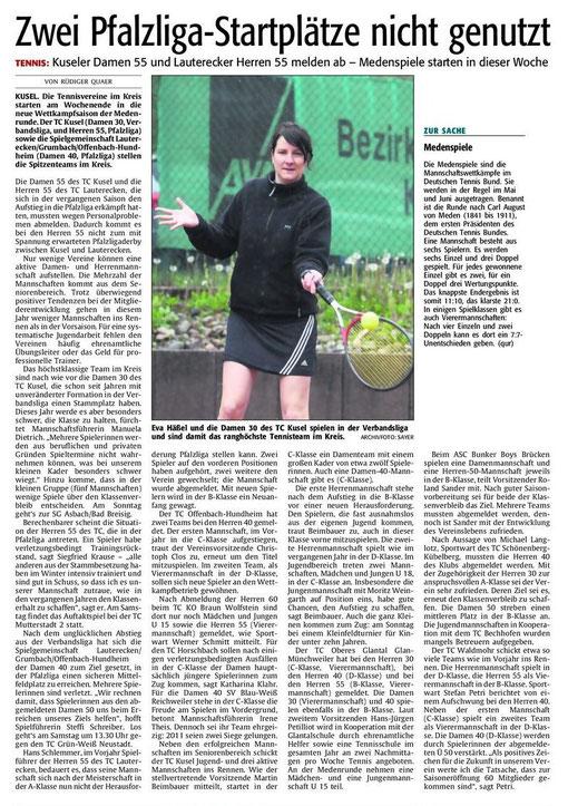 Quelle: Verlag: DIE RHEINPFALZ Publikation: Westricher Rundschau Ausgabe: Nr.103 Datum: Donnerstag, den 03. Mai 2012 Seite: Nr.18