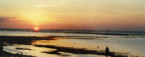 Sonnenuntergang auf Gili Meno