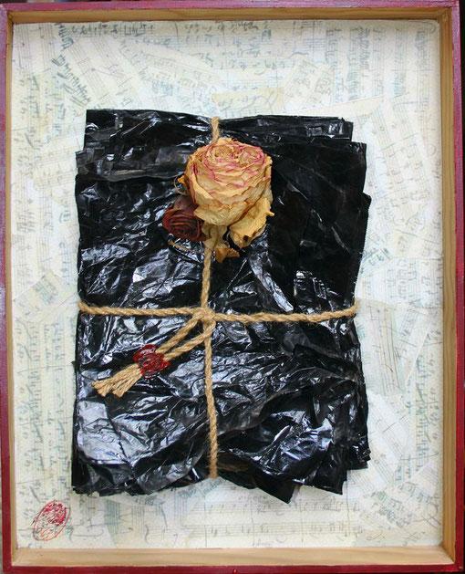 """""""Relique"""", tehnica mixta, 51 x 40,5 cm"""