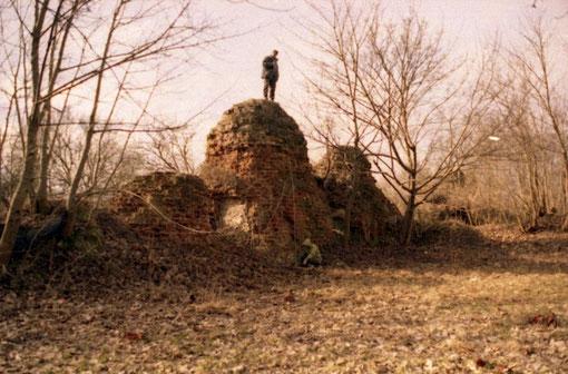 1999 г. обмеры руин  замка