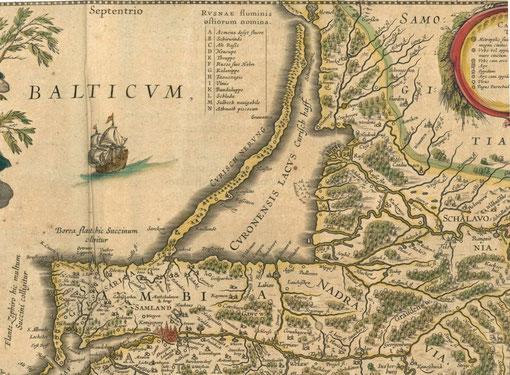 Карта Пруссии 17 век