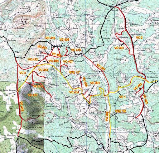 Carte de la voirie communale