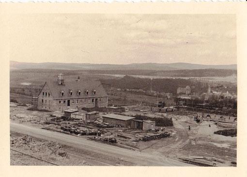 Bau der Autobahnmeisterei Ende der 30er Jahre