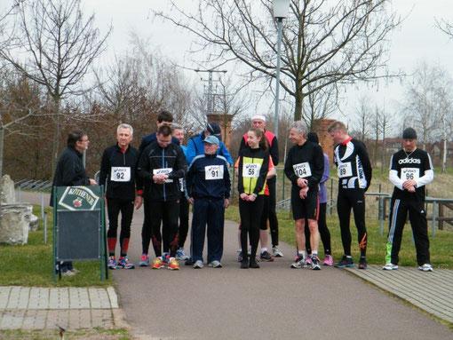Die Läuferinnen und Läufer über 3 km und 6 km