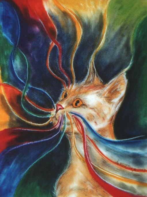 Transzendenz – aus meiner Serie: Felidae Mystica (Die Regenbogenkatzen)