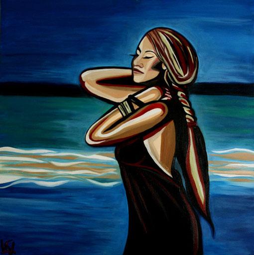 Ocean Dreams, Öl auf Leinwand, 100x100cm