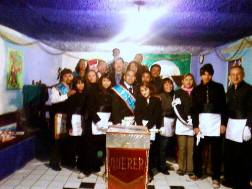 Miembros del Resp.´. Tall.´. Guerreros Aguila No. 5