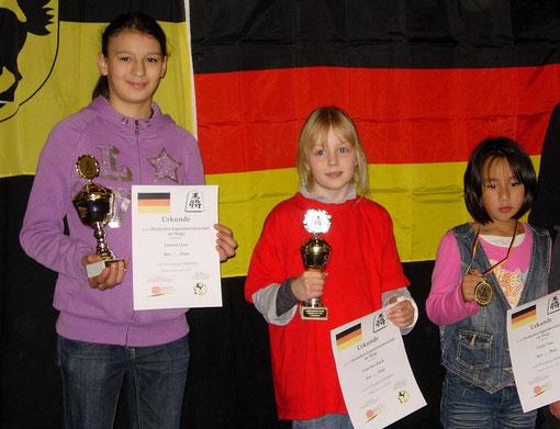 1. Platz Yasmin, 2. Platz Lina und 4. Platz Cindy (v. l. n. r.)