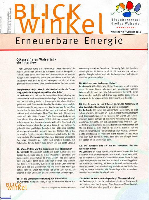 Interview über Erneuerbare Energie