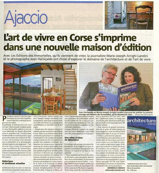 Corse-Matin du 10 novembre