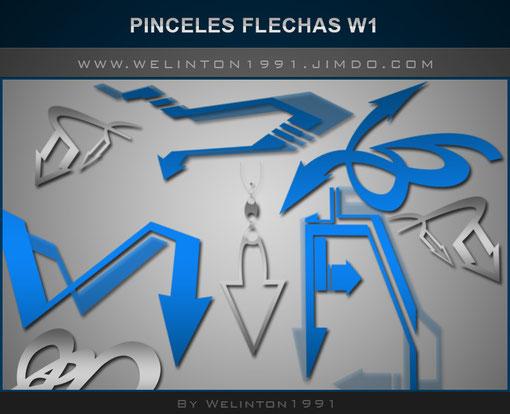 Pinceles Flechas W1 photoshop · Diseños · Recursos · Pinceles · 33