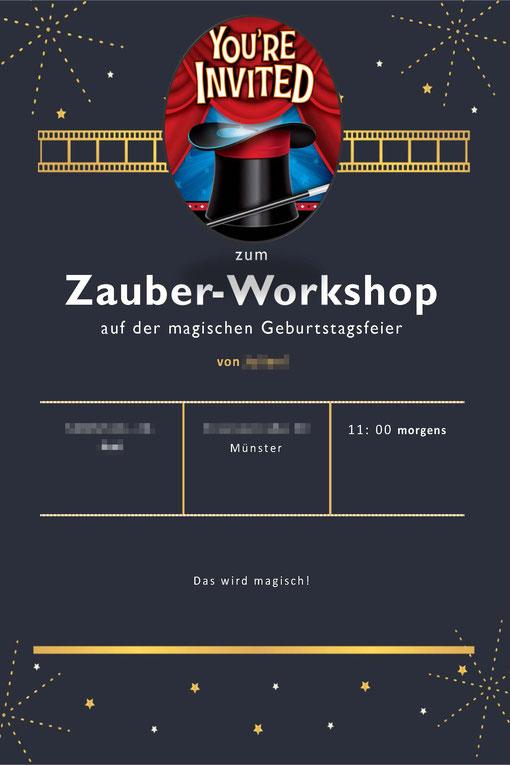 Einladung Zauberworkshop 2021