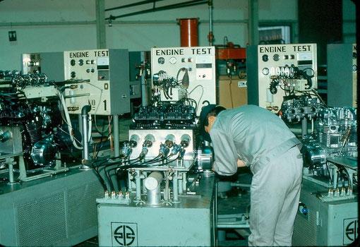 test moteur à l'usine Akashi