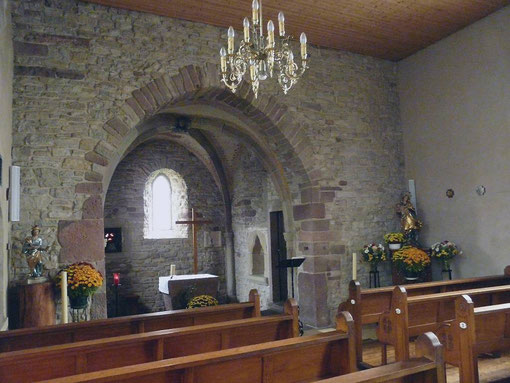 Le choeur de la chapelle de Grand Eich