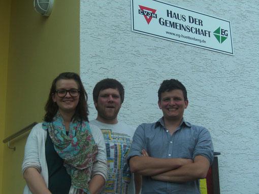 Mitarbeiter des Jugendkreises (v. l.): Hanna, Manu und Thani