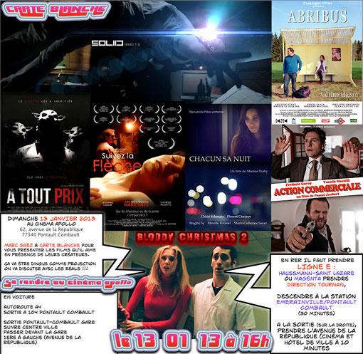 PROGRAMME de LA CARTE BLACHE offerte par le Cinéma APOLLO