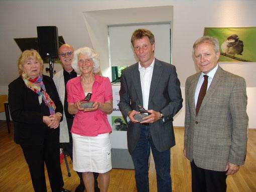 Erika Wagner, Christian Stratmann, Annemarie Krone, Joachim Lilei und Oberbürgermeister Horst Schiereck