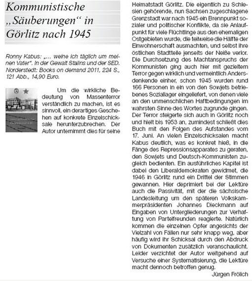 """Dr. Jürgen Frölich im Vierteljahresheft """"liberal"""", März 2012"""