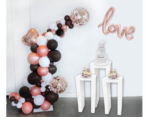 Luftballon Ballon organic style love bunt romantisch verspielt modern Herz Hochzeit Liebe Location Polterabend Vintage Dekoration love personalisiert Konfettiballon Konfetti Kuchenbuffet Hochzeit