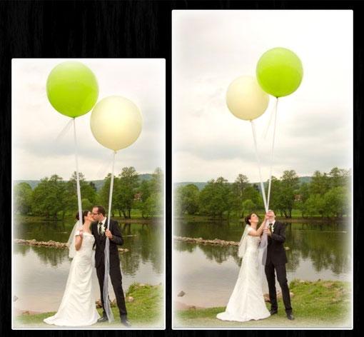 XXL Latexballon Luftballon Ballon Heliumballon Riesenballon Hochzeit groß Fotoshooting Fotograf Fototermin romantisch