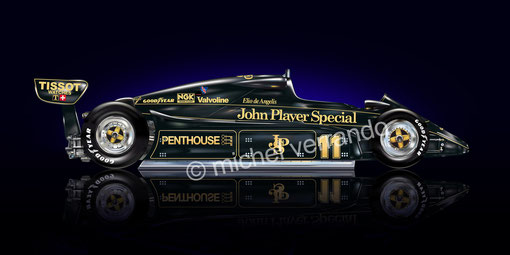 Automotive art Illustration F1 de Angelis lotus 91 michel  verrando paint f1 drawing  peinture
