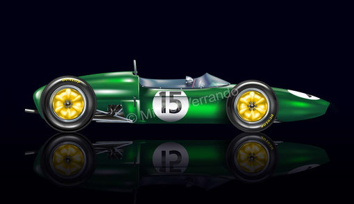 peinture automobile automotive art ines ireland verrando lotus 21 painting illustration jim clark design