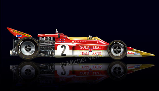 lotus 72 drawing art paint automotive rindt