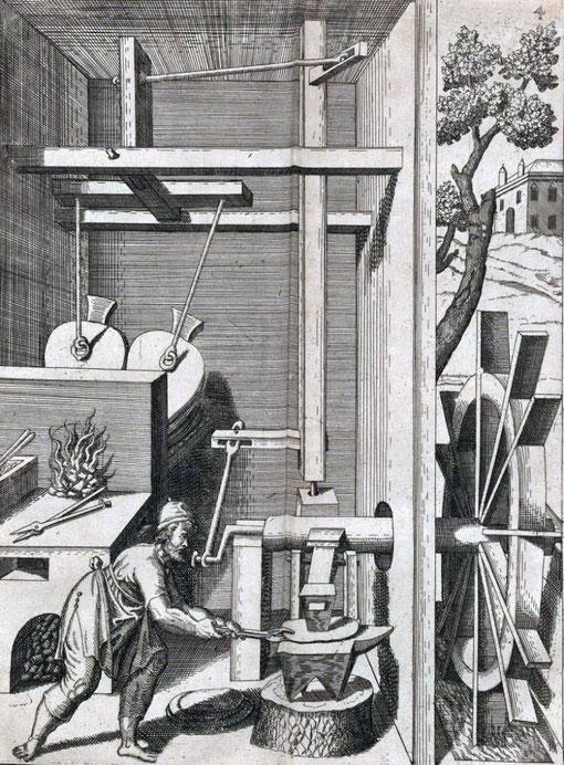 Hammermühle, Darstellung aus dem Jahre 1617