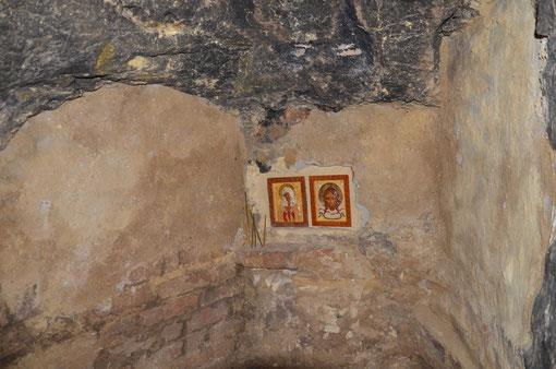 в пещерах монастыря