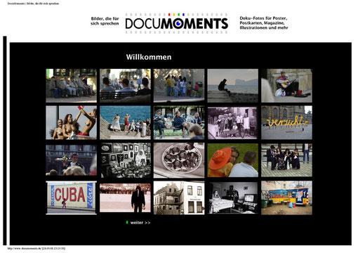 Die Startseite: www.documoments.de