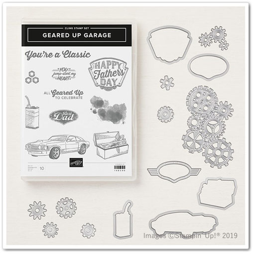 geared up garage stamp set