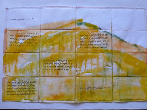 Peindre / Ecrire par Anne SLACIK et Guy BARRAL aux Editions Luis Casinada. Version déployée