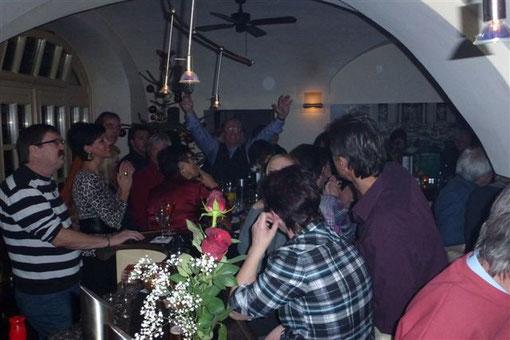 10.12.2011 Weihnachtsparty mit Peter Reicher & Mike Werner im Cafe Giardino-Stainz-Diese Superstimmung wird vielen noch lange in Erinnerung bleiben!-Foto: Walter Röxeis-Privatarchiv